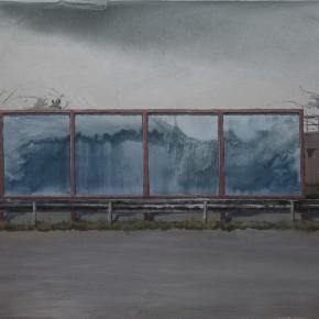 "02 Li Yiwen ""Four Screens"" acrylic on canvas 80 x 100 cm 2013 290x290 - The Solo Exhibition by Artist Li Yiwen Presented at Gallery Yang"
