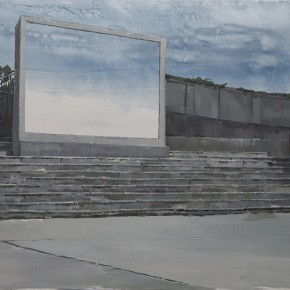 "03 Li Yiwen ""Cold Light"" acrylic on canvas 200 x 100 cm 2013 290x290 - The Solo Exhibition by Artist Li Yiwen Presented at Gallery Yang"