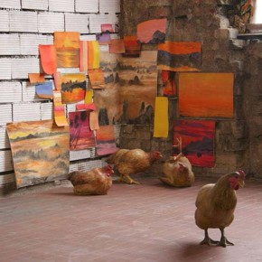 """07 2010 Best Artist Award Duan Jianyu """"Artistical chicken"""", sculpture installations Variable size 2013 290x290 - Chinese Contemporary Art Award announces its 15th anniversary exhibition opening April 26"""