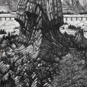 07 Hou Zhuowu Collapse 2013 Ink on rice paper 323x143 cm 290x290 -  INK MUTATIONS: Exhibition of Works by Hou Zhuowu Opening April 14 at Today Art Museum