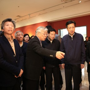 "07 Installation view of the opening ceremony 290x290 - ""Strong Wind and Big Waves – The Retrospective of Tang Xiaohe and Cheng Li"" Debuted at Hubei Museum of Art"