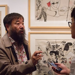 "08 Li Jin was interviewed by a journalist from CAFA ART INFO 290x290 - ""Modern Recluse: Hermit Spirits of Zhu Xinjian"" Opened at Today Art Museum to Recall the New Literati Painter Zhu Xinjian"