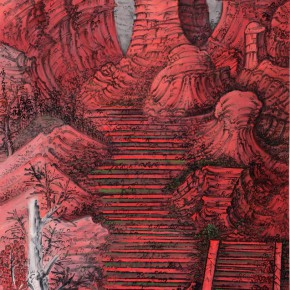 09 Hou Zhuowu Red Mountain —Altar 2012 Ink and color on rice paper314x 143 cm 290x290 -  INK MUTATIONS: Exhibition of Works by Hou Zhuowu Opening April 14 at Today Art Museum