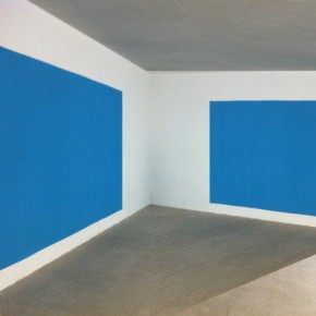 """10 2012 Best Artist Award Pak Sheung Chuen """"Paint a Sky Using the Remaing Blue to Paint a Sea """"Conceptual PaintingTwo mural paintings 1.7Mx3.5M. Instructions 21x30cm 2007 290x290 - Chinese Contemporary Art Award announces its 15th anniversary exhibition opening April 26"""