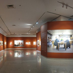 "10 Installation view of exhibition hall 1 panorama 290x290 - ""Strong Wind and Big Waves – The Retrospective of Tang Xiaohe and Cheng Li"" Debuted at Hubei Museum of Art"