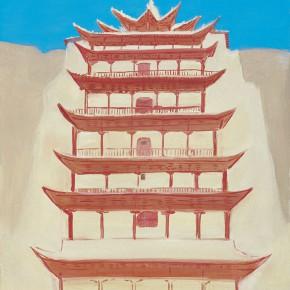 "101 Wu Yi ""Nine Storey Building of Mogao Grottoes"" oil on canvas 50 x 40 cm 2010 290x290 - Wu Yi"