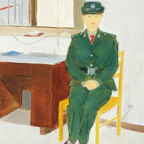 """102 Wu Yi """"Female Security Guards of the Security Department"""" oil on canvas 50 x 40 cm 2010 290x290 - Wu Yi"""