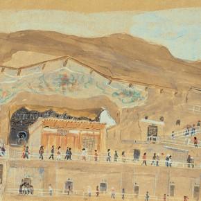 "103 Wu Yi ""Mogao Grottoes of the International Workers' Day on May 1"" 17.5 x 25 cm 290x290 - Wu Yi"