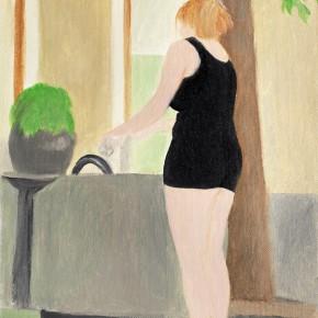 "11 Wu Yi, ""Midsummer"", oil on canvas, 32.5 x 22.5 cm, 2013"