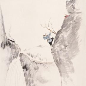"""110 Wu Yi """"Morning"""" ink on paper 195 x 95 cm 2009 290x290 - Wu Yi"""