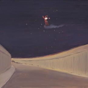 """112 Wu Yi, """"Christmas Eve"""", oil on canvas, 30 x 40 cm, 2008"""