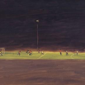 "113 Wu Yi, ""Football School of Tai Yang Gong"", oil on canvas, 30 x 40 cm, 2008"