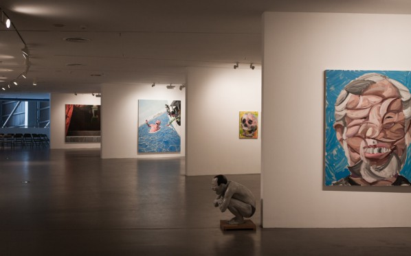 "12 Installation view of ""Big Face – New Works by Yue Minjun"""