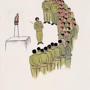 "122 Wu Yi ""A Conductor"" ink on paper 138 x 70 cm 2008 290x290 - Wu Yi"