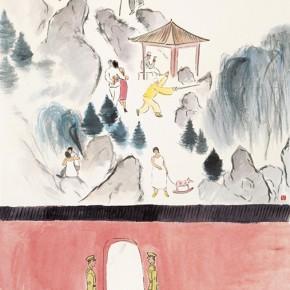 """129 Wu Yi """"Beihai Park"""" ink on paper 138 x 70 cm 2007 290x290 - Wu Yi"""