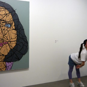 "13 Installation view of ""Big Face – New Works by Yue Minjun"""