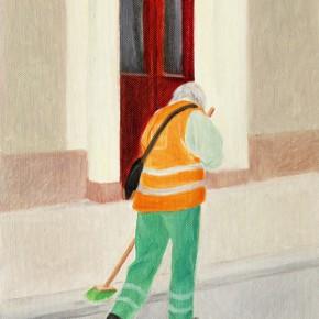 """13 Wu Yi """"A Cleaner"""" oil on canvas 29.5×22cm 2013 290x290 - Wu Yi"""