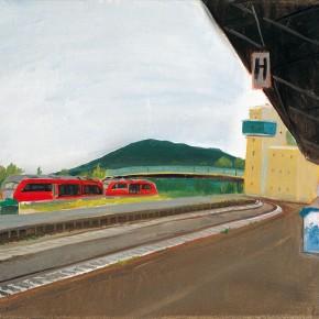 """134 Wu Yi, """"Railway Station No.3"""", oil on canvas, 40 x 50 cm, 2007"""