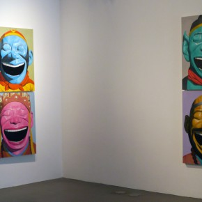 """14 Installation view of """"Big Face – New Works by Yue Minjun"""" 290x290 - """"Big Face – New Works by Yue Minjun"""" Debuted at the Art Museum of Nanjing University of the Arts"""
