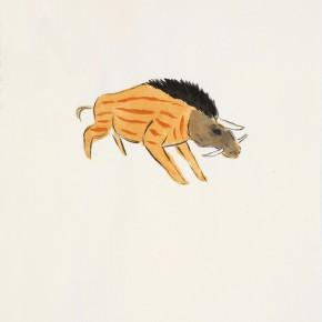 "144 Wu Yi, ""Unicorn"", ink on paper, 30 X 21 cm, 2007"