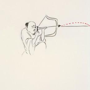 """145 Wu Yi """"Shooting"""" ink on paper 30 x 21 cm 2007 290x290 - Wu Yi"""