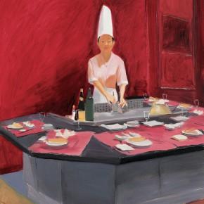 """147 Wu Yi, """"Chef"""", oil on canvas, 100 x 80 cm, 2006"""