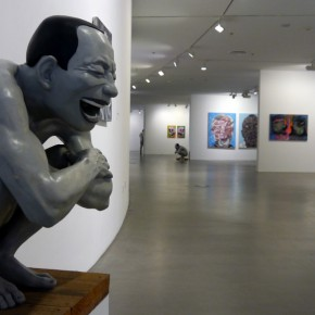 "15 Installation view of ""Big Face – New Works by Yue Minjun"""