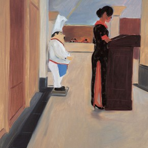 """151 Wu Yi, """"Reception"""", oil on canvas, 100 x 80 cm, 2006"""