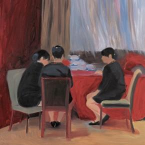 "152 Wu Yi, ""Waitresses"", oil on canvas, 100 x 80 cm, 2006"