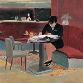 """153 Wu Yi, """"Ganger"""", oil on canvas, 100 x 80 cm, 2006"""