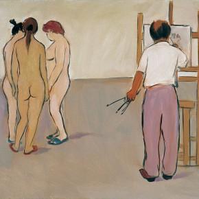 "155 Wu Yi, ""A Professor"", oil on canvas, 30 x 40 cm, 2005"