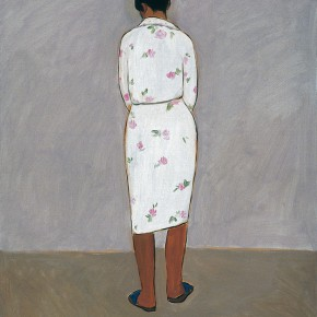 "157 Wu Yi, ""The Model with a Sleepwear"", oil on canvas, 60 x 50 cm, 2005"