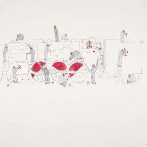 "167 Wu Yi ""Doctors of Locomotive"" ink on paper 155 x 146 cm 2006 290x290 - Wu Yi"