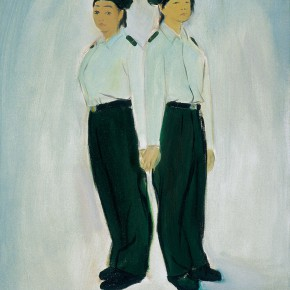 "168 Wu Yi ""Squad Leader and Medic"" oil on canvas 50 x 40 cm 2005 290x290 - Wu Yi"