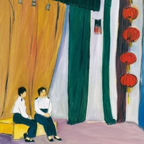 """172 Wu Yi, """"The Club"""", oil on canvas, 60 x 50 cm, 2005"""