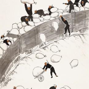 "181 Wu Yi ""New Mapo Group Paintings No.6"" ink on paper 168 x 97 cm 2004 290x290 - Wu Yi"