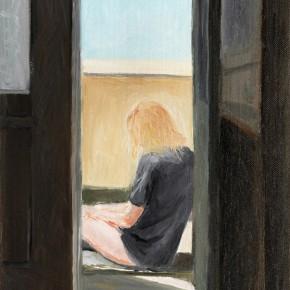 "2 Wu Yi, ""Balcony"", oil on canvas, 31 x 22 cm, 2013"