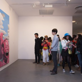 "20 Installation view of ""Big Face – New Works by Yue Minjun"""