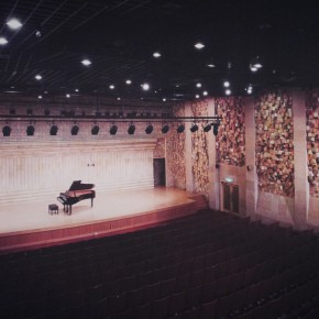 "20 Zhu Legeng, ""Imagination of Space and Time"", inner wall of concert hall, 2005"