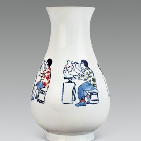 """200 Wu Yi """"Women Are Painting on Porcelains in the Factory"""" porcelain 200 290x290 - Wu Yi"""