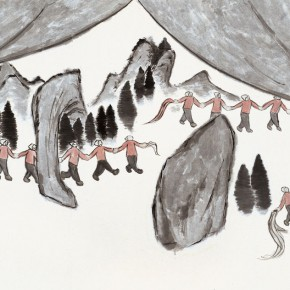 "201 Wu Yi ""New Mapo Group Paintings No.1"" ink on paper 140 x 215 cm 2002 290x290 - Wu Yi"