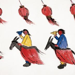 "204 Wu Yi ""New Mapo Group Paintings No.4"" ink on paper 140 x 280 cm 2002 290x290 - Wu Yi"