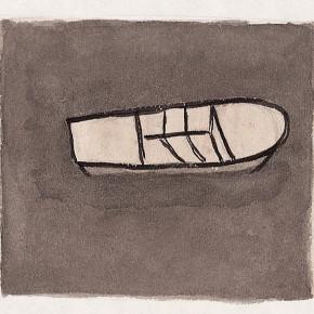 """210 Wu Yi """"Seine River"""" ink on paper 2002 290x290 - Wu Yi"""