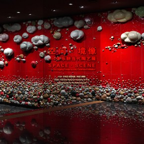 "23 Zhu Legeng ""The Scene of Arrival of Sky Waters"" 1600 x 450 cm 2014 290x290 - ""Space • Scene – Zhu Legeng's Contemporary Ceramic Art Exhibition"" Opened at the National Centre for the Performing Arts"
