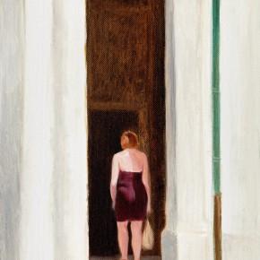 """24 Wu Yi, """"Notre-Dame, Loiret"""", oil on canvas, 32×22cm, 2013"""