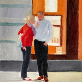 "26 Wu Yi, ""Conversation"", oil on canvas, 32 x 22 cm, 2013"