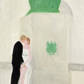 """27 Wu Yi, """"Wedding"""", oil on canvas, 32 x 23 cm, 2013"""