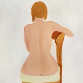 """3 Wu Yi, """"Shyness"""", oil on canvas, 50 x 40 cm, 2013"""