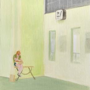 """4 Wu Yi, """"A Break No.1"""", oil on canvas, 31.5 x 22.5 cm, 2013"""