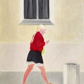 "40 Wu Yi ""The Woman in Red"" oil on canvas 31.5 x 22.5 cm 2013 290x290 - Wu Yi"